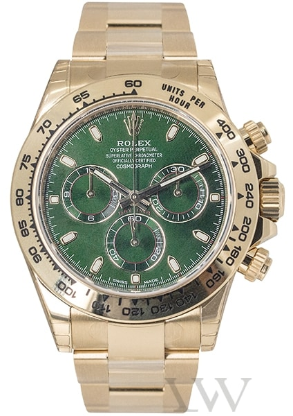 Rolex Oyster Perpetual Daytona Yellow Gold Green Dial 116508