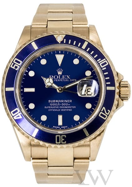Rolex Oyster Perpetual Submariner Yellow Gold 16618