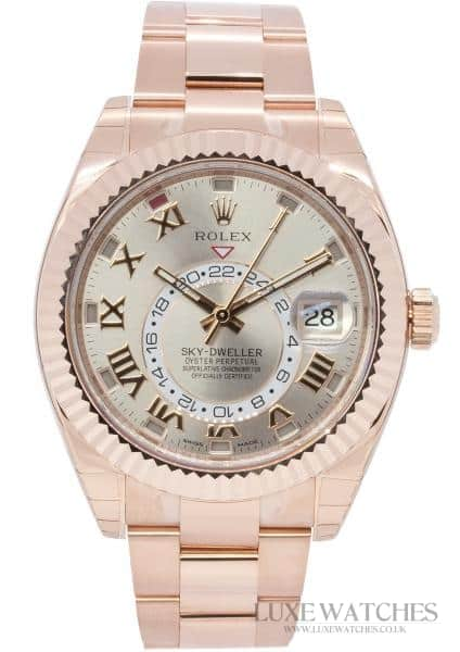 Rolex Oyster Perpetual Rose Gold Sky Dweller 326935