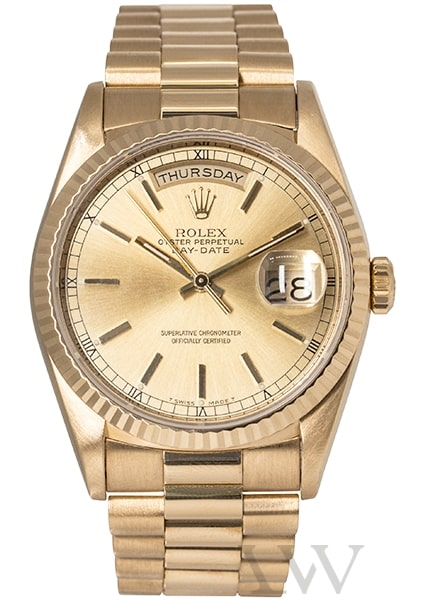 Rolex Oyster Perpetual Day-Date Yellow Gold 18238
