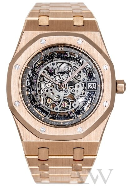 Audemars Piguet Royal Oak Openworked Extra-Thin Rose Gold 15204OR.OO.1240OR.01