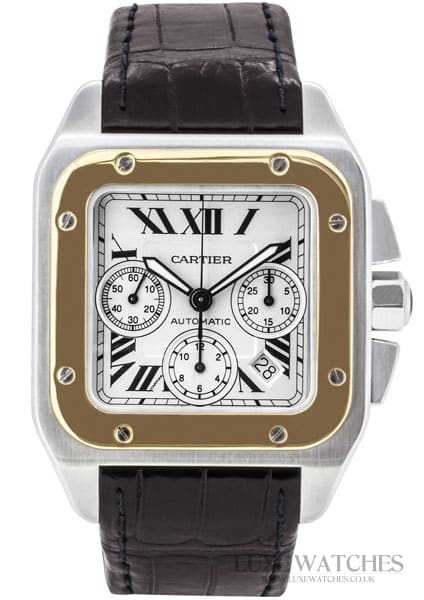 Cartier Santos 100 Chronograph Steel and Gold