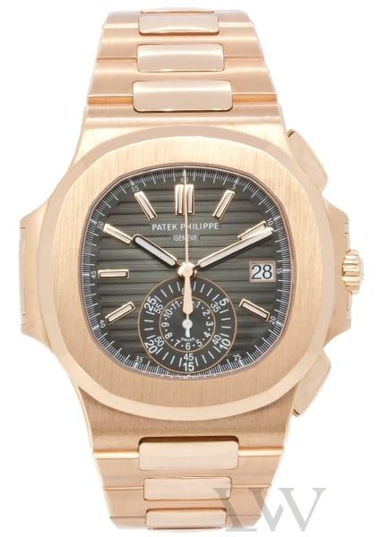 Patek Philippe Nautilus Chronograph 18ct Rose Gold 5980-1R 001