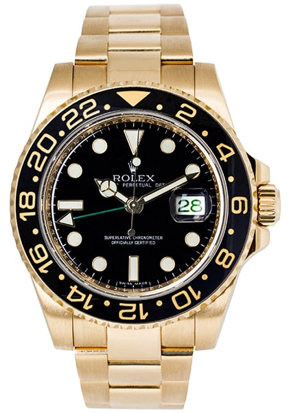 Rolex Oyster Perpetual GMT-Master II Yellow Gold 116718LN