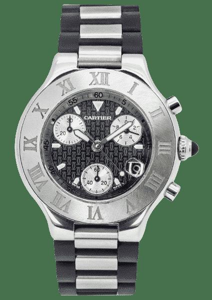 Cartier Must 21 Chronoscaph Stainless Steel W10125U2 / 2424