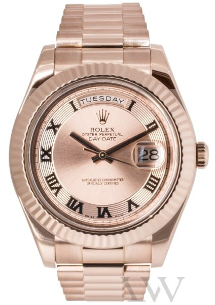Rolex Oyster Perpetual Day-Date II Rose Gold 218235
