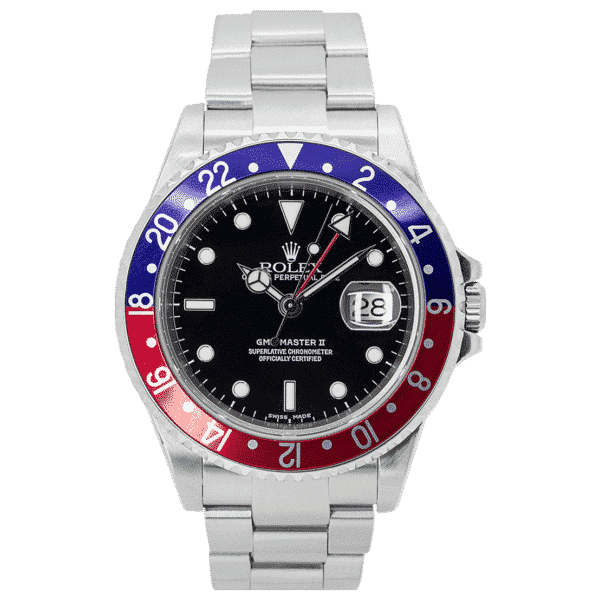 """Rolex Oyster Perpetual GMT-Master II Stainless Steel """"Pepsi"""" 16710"""
