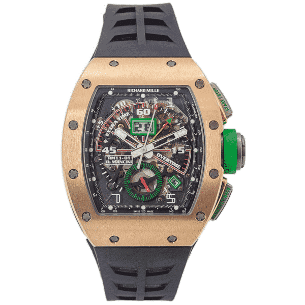Richard Mille RM 11-01 Rose Gold Automatic Winding Flyback Chronograph Roberto Mancini Edition