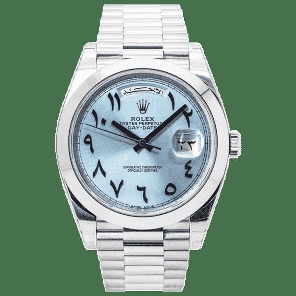"Rolex Oyster Perpetual Day-Date 40 Platinum ""Arabic Dial"" 228206"