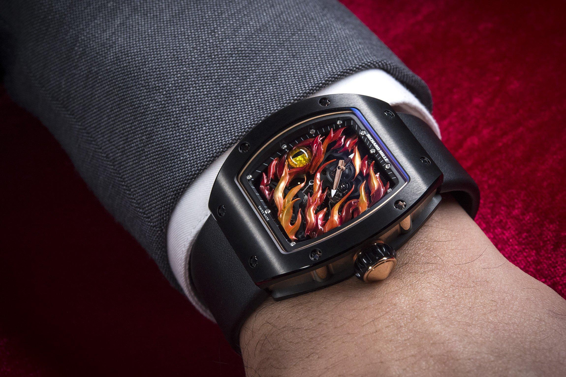 Richard-Mille-Evil-Eye-RM-26-02-Tourbillon-Watch-Watches-And-Wonders-2015-Wrist