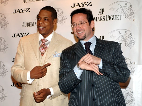 Jay-Z and Francois-Henry Bennahmias, president of Audemars Piguet North America (Photo by KMazur/WireImage for WSC PR)