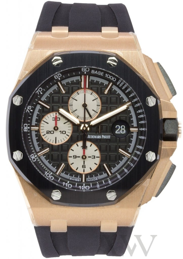 Audemars piguet royal oak offshore chronograph rose gold ceramic 44mm 26401ro oo for Royal oak offshore ceramic