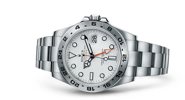Rolex Explorer II White Dial and Stainless Steel