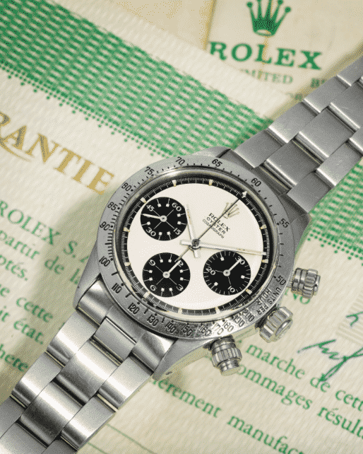 Rolex Daytona Paul Newman Panda Ref 6265 Stainless Steel