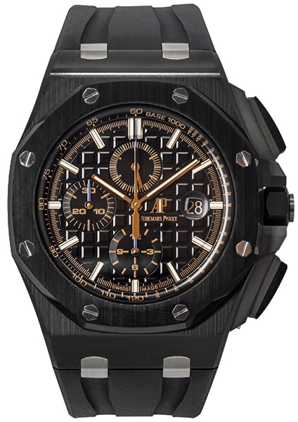Audemars piguet royal oak offshore chronograph black ceramic 26405ce oo luxe watches for Royal oak offshore ceramic