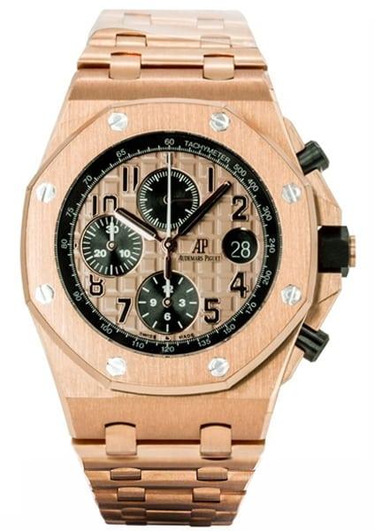 Audemars piguet royal oak offshore 42mm chronograph rose gold for Royal oak offshore rose gold 42mm