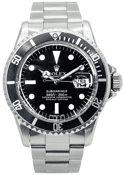 Tag Heuer Uk >> Rolex Oyster Perpetual Submariner Stainless Steel 1680 | Luxe Watches